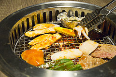 Yakiniku buffet that Japanese style barbecue Stock Photo