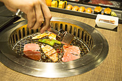 Yakiniku buffet that Japanese style barbecue Royalty Free Stock Image