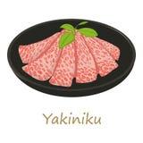 Yakiniku icon, cartoon style Royalty Free Stock Image