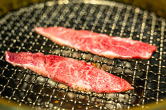 Yakiniku style barbecue beef Royalty Free Stock Images