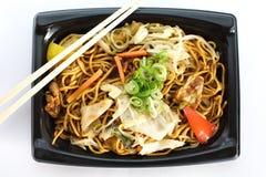 Yakisoba, ιαπωνικά ανακατώνω-τηγανισμένα noodles στοκ φωτογραφίες με δικαίωμα ελεύθερης χρήσης