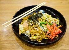 Yakisoba, gebratene japanische Nudel Lizenzfreies Stockfoto