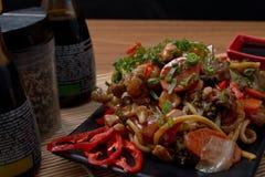 Yakisoba japanese food. Japanese food background close diner Royalty Free Stock Photography