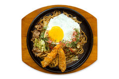 Yakisoba, Japanese fried noodles Royalty Free Stock Photo