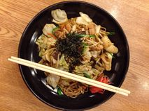 Yakisoba. Japanese noodle style, most favorite menu that people known around the world Royalty Free Stock Photos