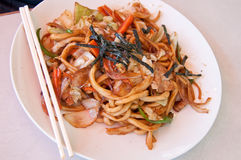 Yakisoba noodles Royalty Free Stock Images