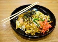 Yakisoba, nouille japonaise frite Photo libre de droits