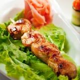yakitori японца кухни цыпленка Стоковое Изображение RF