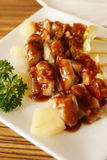 Yakitori, estilo japonés del pollo ensartado Imágenes de archivo libres de regalías
