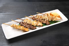 YAKITORI Japanese chicken barbecue Royalty Free Stock Photography