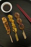 Yakitori, japanische Küche. Stockfotografie
