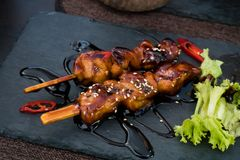 Yakitori Metal Plate stock images