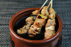 Yakitori. Is one of the Japanese dishes Stock Images