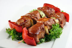 Yakitori pork Royalty Free Stock Images