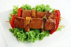 Yakitori-Schweinefleisch Lizenzfreie Stockfotografie