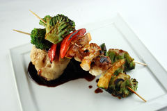 Yakitori vegetariano Foto de archivo