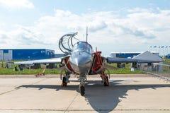 Yakovlev jak-130 subsone twee-Seat gevorderde straaltrainer Royalty-vrije Stock Foto
