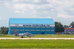 Yakovlev jak-130 subsone twee-Seat gevorderde straaltrainer Royalty-vrije Stock Afbeelding