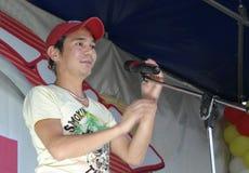 Yakovlev Oleg soloist of group Ivanushki International Stock Image