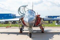 Yakovlev Yak-130 poddźwiękowy dwumiejscowy postępowy dżetowy trener Zdjęcia Stock