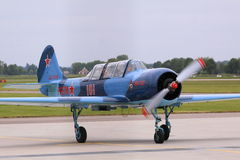 Yakovlev yak-52 russian airplane Stock Photos