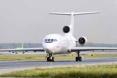 Yakovlev Yak-42 Tulpar airlines taxiing. Royalty Free Stock Photography