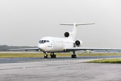 Yakovlev Yak-42 Tulpar airlines taxiing. Stock Photography