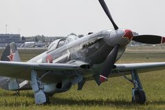 Yakovlev Yak-3. Was a World War II Soviet fighter aircraft. Robust and easy to maintain, it was very much liked by pilots and ground crew alike Royalty Free Stock Photography
