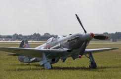 Yakovlev Yak-3. Was a World War II Soviet fighter aircraft. Robust and easy to maintain, it was very much liked by pilots and ground crew alike Stock Photos