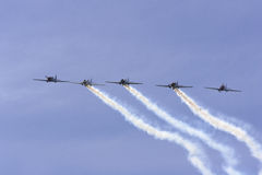 Yaks in formation. From Rygge Airshow in Norway 2009 stock photography