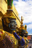 Yaksha demon guards. In the Grand Palace complex. Bangkok, Thailand Stock Image