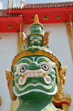 Yaksha förmyndare av den Thailand templet Arkivfoton