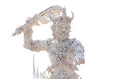 Yaksha ou gigante do mito Tailandês-budista, porteiro do inferno fotografia de stock royalty free