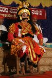 Yakshagana artis on stage Royalty Free Stock Image