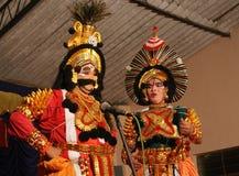 Yakshagana artists on stage Royalty Free Stock Photos