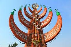 Yakut национальный символ дерева жизни Стоковые Изображения