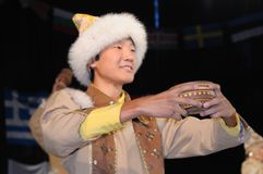 Yakut dancer Stock Photos