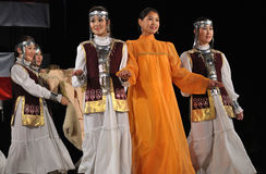 Yakut folklore. Folklore Ensemble MICHAAR from Sakha (Yakutia) Republic of Russia - performs folk dances during the International Folklore Festival WARSFOLK on Stock Photography