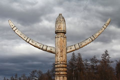 Yakut rituele post Stock Afbeeldingen