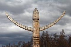 Yakut rituell stolpe Arkivbilder