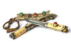 Yakutia (Тибет) ретро knife-2 стоковые изображения