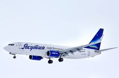 Yakutia Airlines Boeing 737 Royalty Free Stock Image