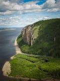 Yakutia, horizontal sauvage de montagne Photographie stock libre de droits