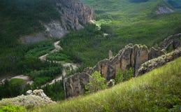 Yakutia, paesaggio selvaggio della montagna Immagini Stock Libere da Diritti
