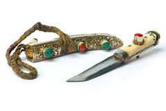 Yakutia (tibet) retro knife Stock Image
