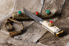 Yakutia (tibet) retro knife-2 Royalty Free Stock Photo