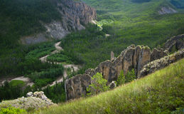Yakutia, wild mountain landscape royalty free stock images