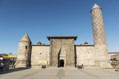 Yakutiye Medresse Erzurum Turkey. This structure was build by Cemaleddin Hodja Yakut on behalf of Gazan Han and Bolugan Hatun in 1310 during the Inhansid Stock Image