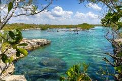 Yal-Ku Lagoon, Mexico royalty free stock photos