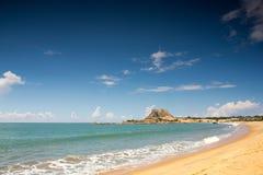 Yala国家公园斯里兰卡 美丽的海滩的看法 图库摄影